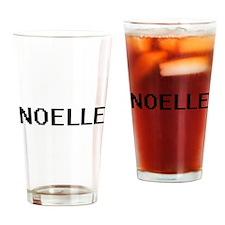 Noelle Digital Name Drinking Glass