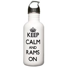 Keep Calm and Rams ON Water Bottle