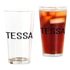 Tessa Digital Name Drinking Glass