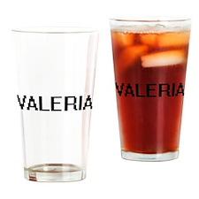 Valeria Digital Name Drinking Glass