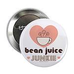Bean Juice Java Junkie Coffee Lovers Button 100 pk