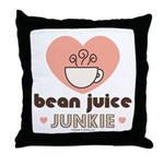 Bean Juice Java Junkie Coffee Lovers Throw Pillow