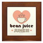 Bean Juice Java Junkie Coffee Lovers Framed Tile