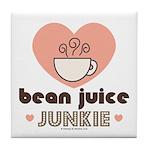 Bean Juice Java Junkie Coffee Lovers Tile Coaster