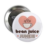 Bean Juice Java Junkie Coffee Lovers Addict Button