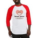 Bean Juice Junkie Coffee Lover Red Baseball Jersey