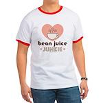 Bean Juice Java Junkie Coffee Lovers Red Ringer T