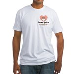 Bean Juice Java Junkie Coffee Lover Fitted T-Shirt