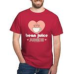 Bean Juice Junkie Coffee Lovers Dark Red T-Shirt