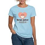 Bean Juice Java Junkie Coffee Lover Pink T-Shirt
