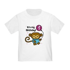 Monkey 1st Birthday T