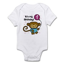 Monkey 1st Birthday Infant Bodysuit