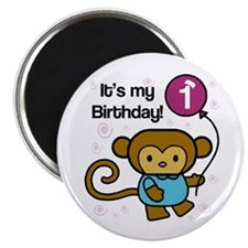 Monkey 1st Birthday Magnet