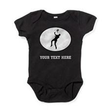 Badminton Player Silhouette Oval (Custom) Baby Bod
