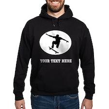 Skateboarder Oval (Custom) Hoodie