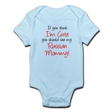 Think Im Cute Russian Mommy Hand Body Suit