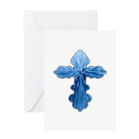 Blue Cross Greeting Card
