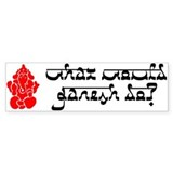 What Would Ganesh Do? Bumper Car Sticker