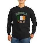 Irish Grils Rock Long Sleeve Dark T-Shirt