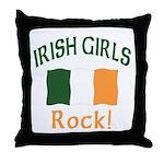 Irish Grils Rock Throw Pillow