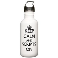 Keep Calm and Scripts Water Bottle