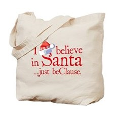 I Believe In Santa Tote Bag