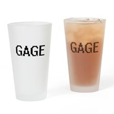 Gage Digital Name Design Drinking Glass