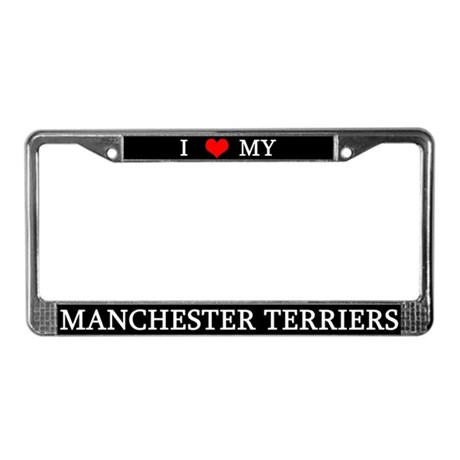 Love Manchester Terriers License Plate Frame