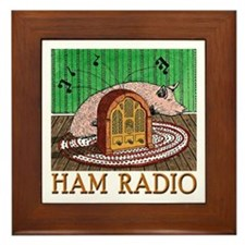 """HAM RADIO"" Framed Tile"