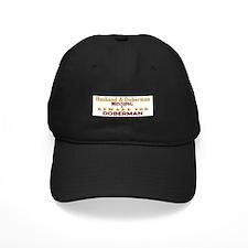 Husband & Doberman Missing Baseball Hat