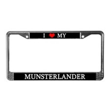 Love Munsterlander License Plate Frame
