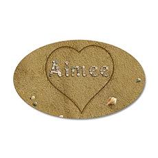 Aimee Beach Love 35x21 Oval Wall Decal