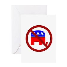 Anti-Elephant Greeting Card
