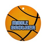 Middle Brother Basketball Ornament (Round)