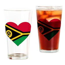 Vanuatu Flag Drinking Glass