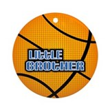 Little Brother Basketball Ornament (Round)