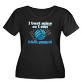 Bust Mine Vball Women's Plus Size Scoop Neck Dark