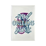 New Orleans Music Rectangle Magnet