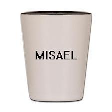 Misael Digital Name Design Shot Glass