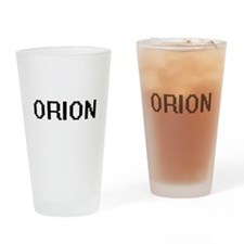 Orion Digital Name Design Drinking Glass
