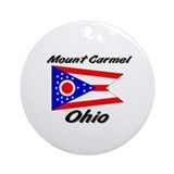 Mount Carmel Ohio Ornament (Round)