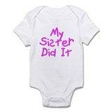 Twisted Imp My Sister Did It Infant Bodysuit