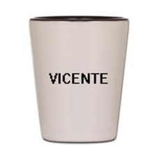 Vicente Digital Name Design Shot Glass