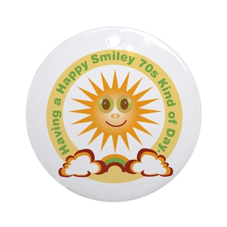 70s Happy Sunshine Ornament (Round)
