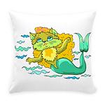 Kitty Mermaid Everyday Pillow