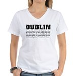 famous places Women's V-Neck T-Shirt