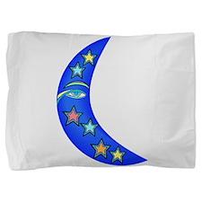 Starry Moon Face Pillow Sham