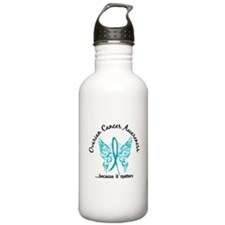 Ovarian Cancer Butterf Sports Water Bottle