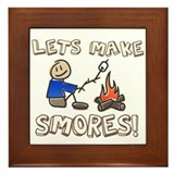 Lets Make SMORES! Framed Tile