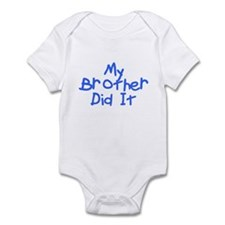 Twisted Imp My Brother Did It Infant Bodysuit